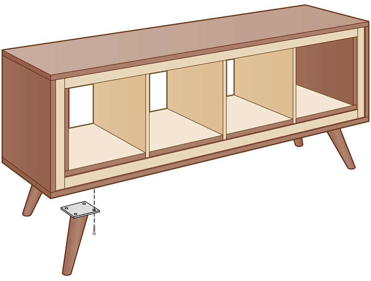 Photo of Get the Look Ikea Hack: Mid-Century Modern Console