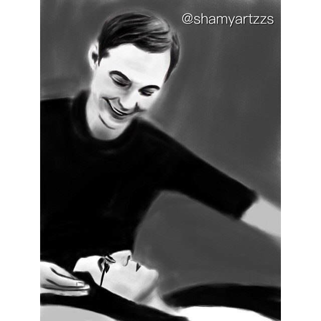 Amy lying on Sheldon's lap. Ahh I want this happen in the show#thebigbangtheory…