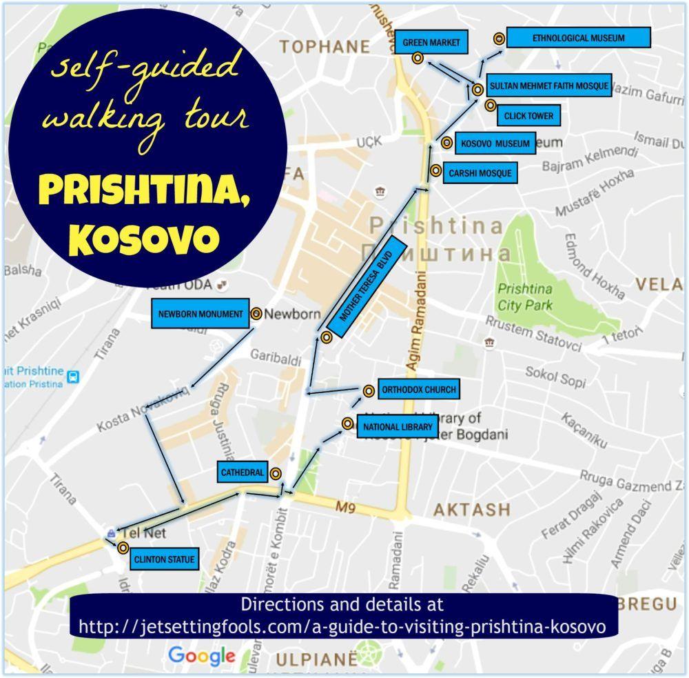 A Guide To Visiting Prishtina Kosovo - pristina map