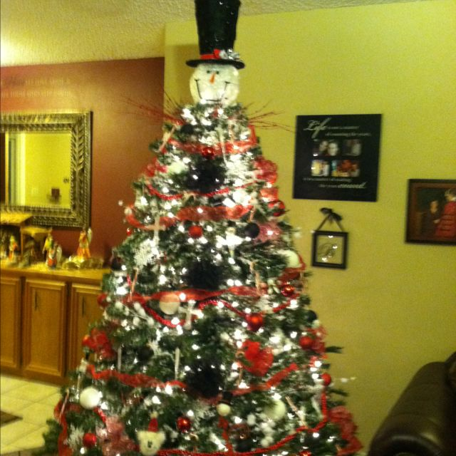 Snowman Christmas tree Christmas Decorations Pinterest Snowman