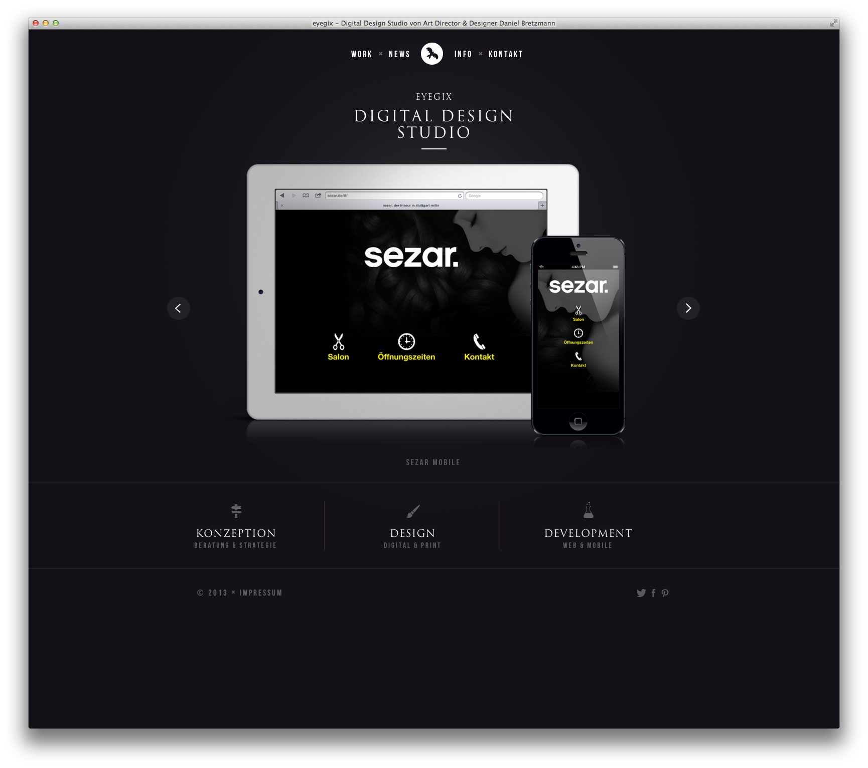 Daniel, Website, Screenshots