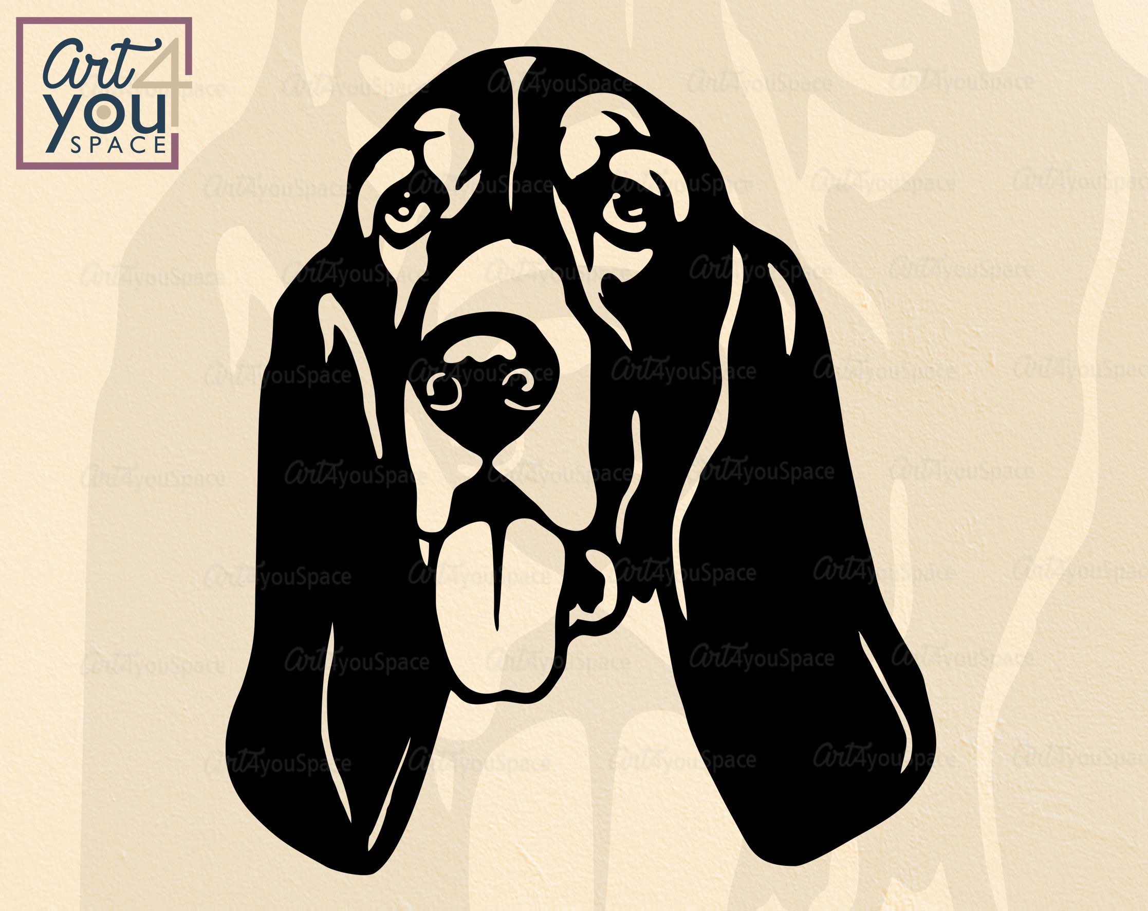 View I Love My Bloodhound – Svg PNG