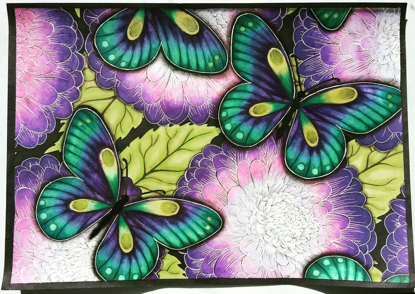 Adult coloring book butterflies barwy jesieni colored pinterest