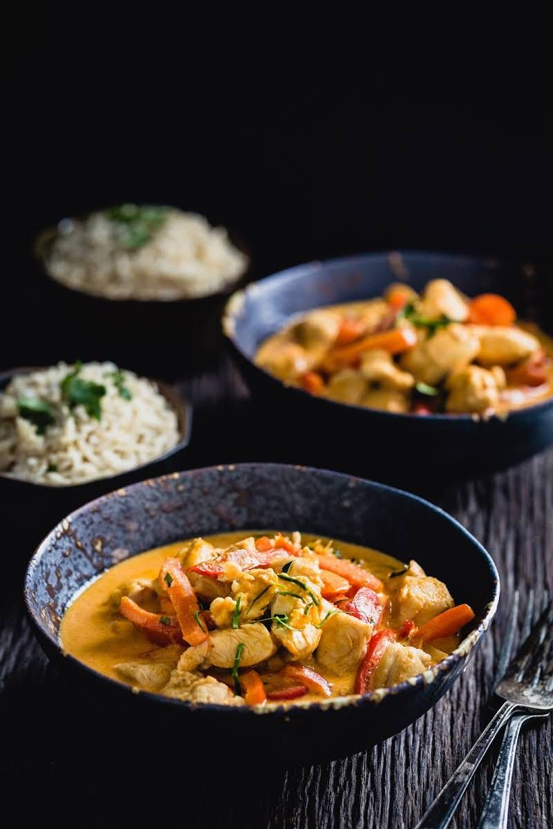 authentic thai chicken curry  recipe  curry recipes
