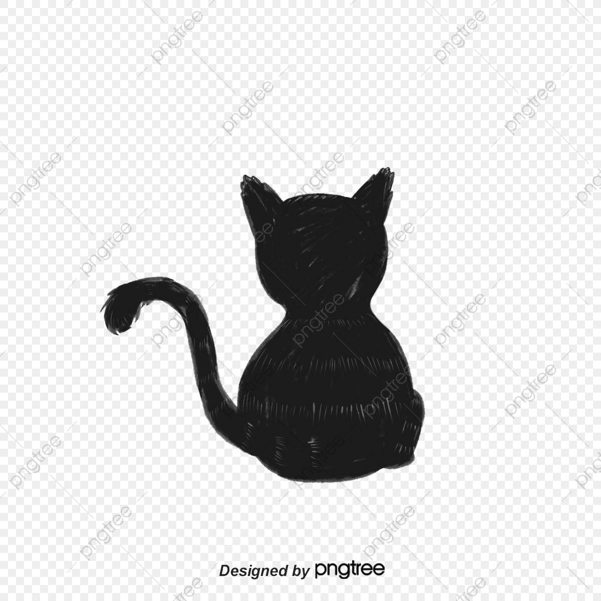 PNG Hitam, Anak Kucing, Haiwan, Siluet Haiwan Kucing Hitam Vektor ...