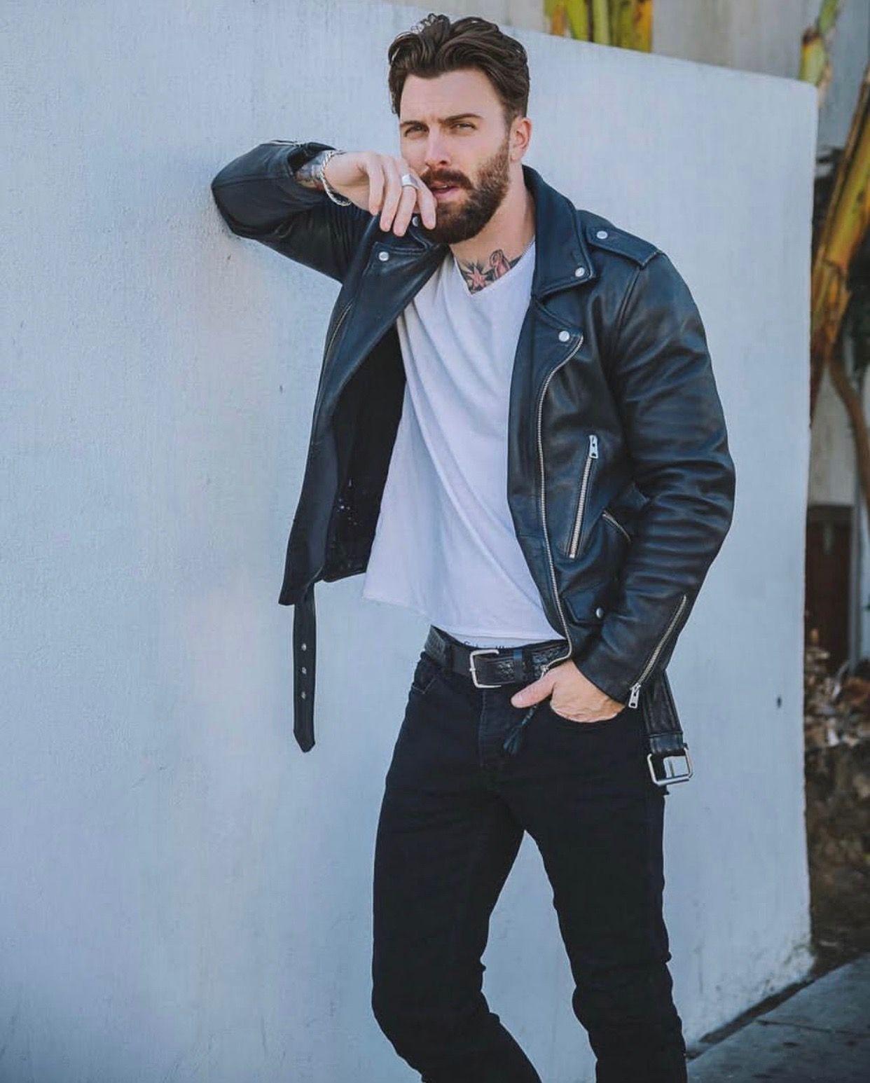 Levi Stocke Leather jacket, Levi, Fashion