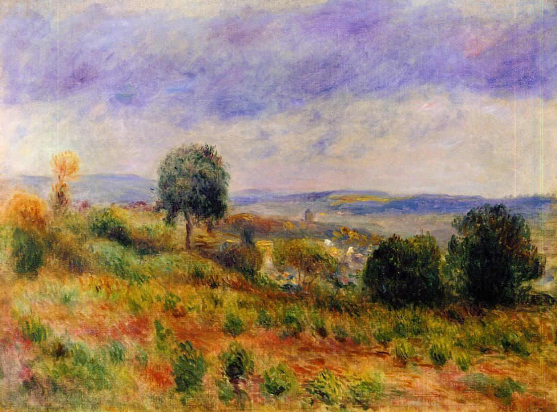 Landscape Auvers-sur-Oise - Pierre-Auguste Renoir - c:1901 ...............#GT