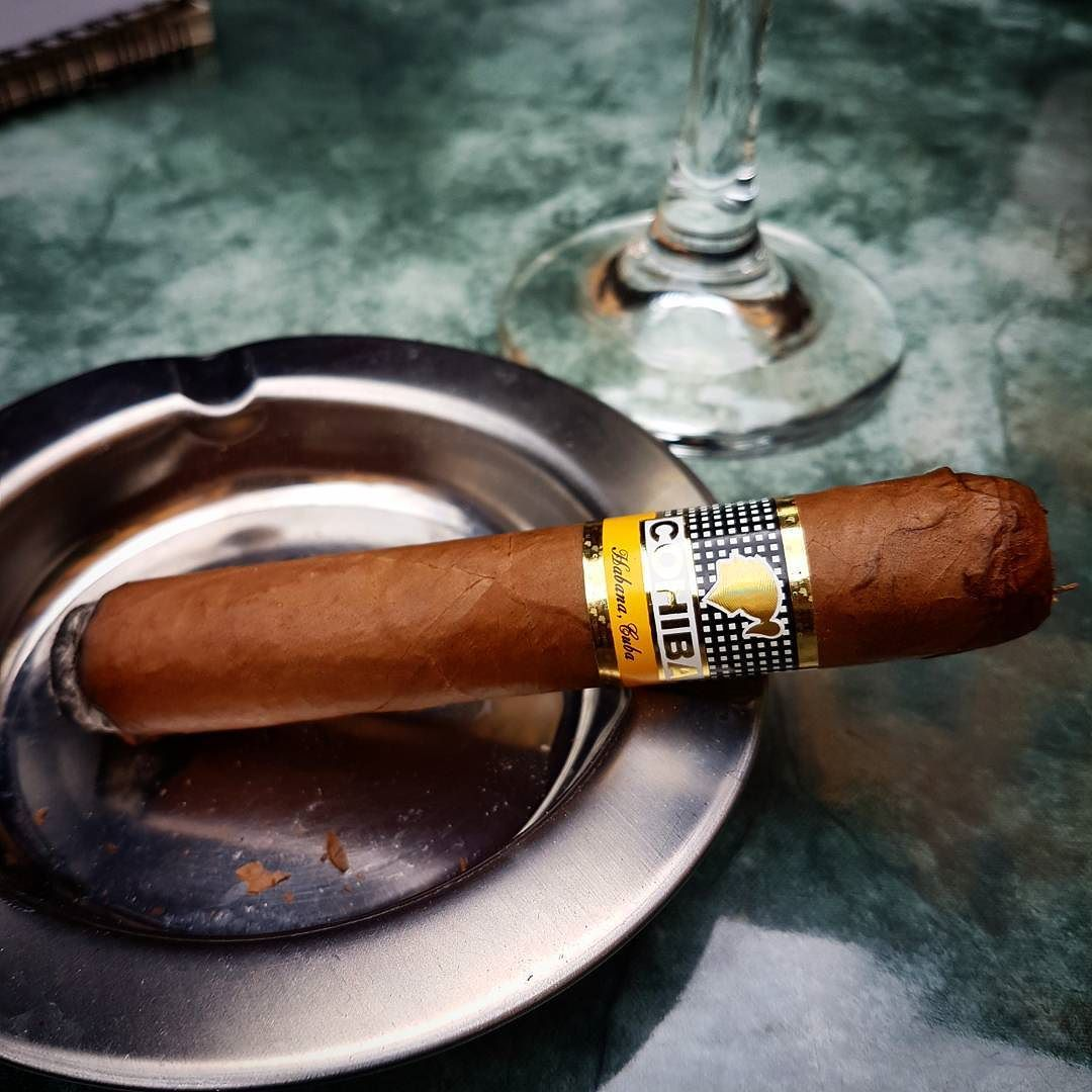 Lighting up a Cohiba Robusto in gastronomic Bologna ...