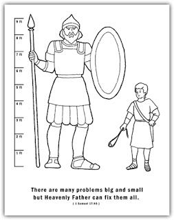 David And Goliath Coloring Page There Are Many Problems Big And