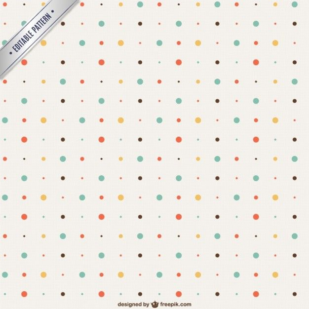 Vintage dots pattern Free Vector | groszki foszki | Pinterest ...