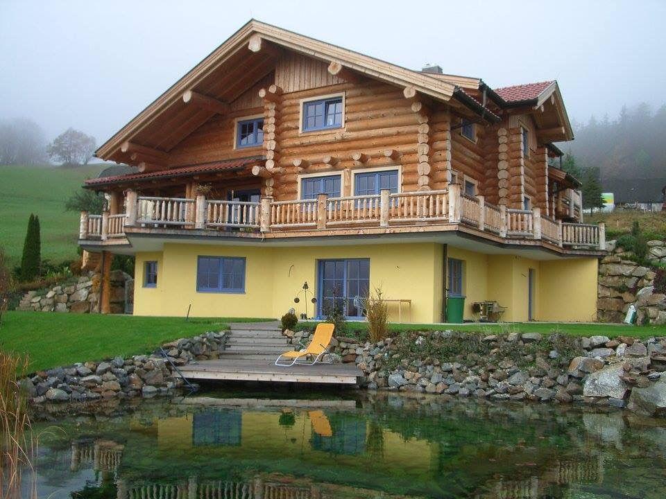 Kanadisches Blockhaus naturstammhaus kanadisches blockhaus holzhaus rundstammhaus