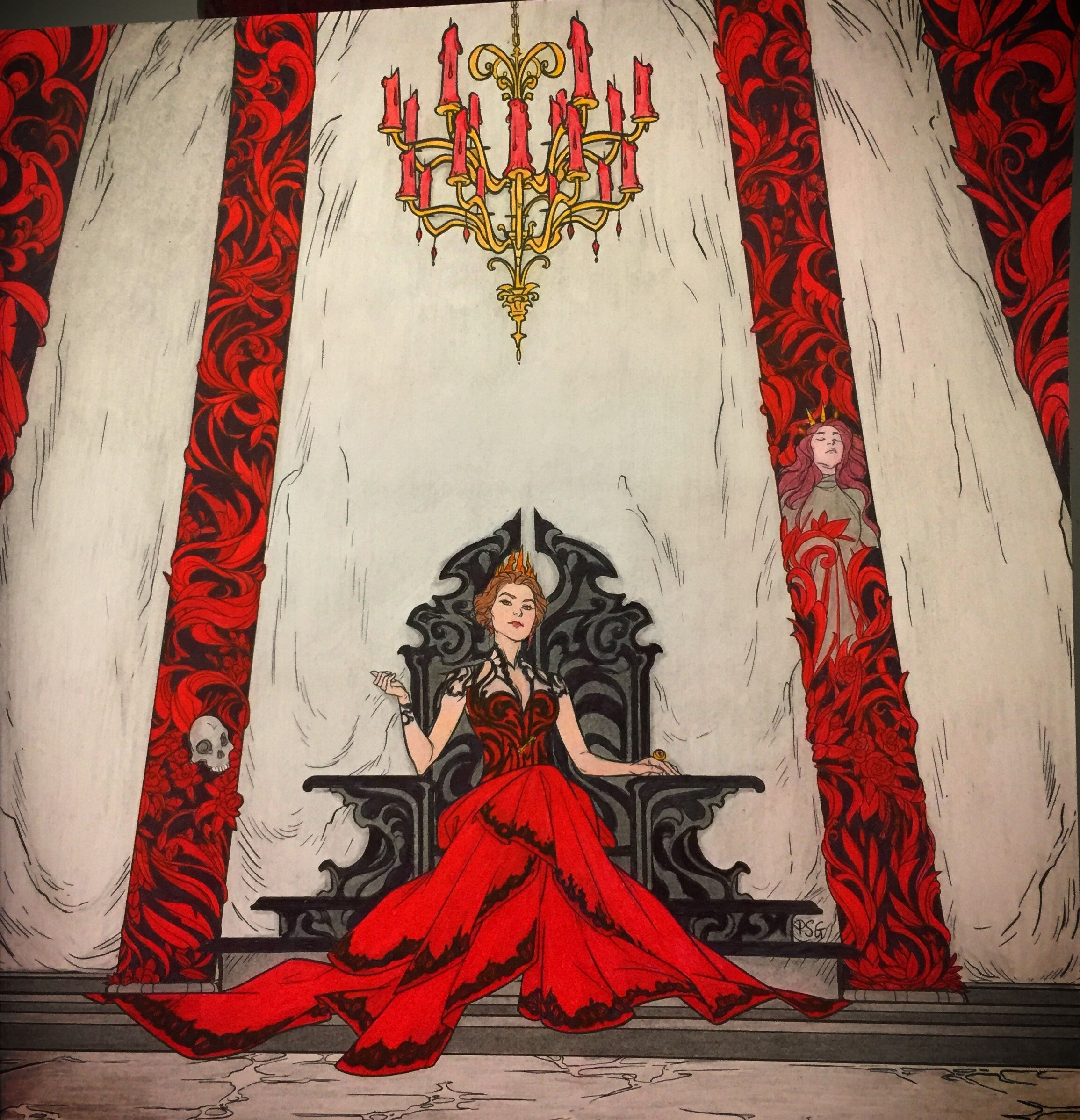 There Lounging On A Black Throne Was Amarantha To Paint Her