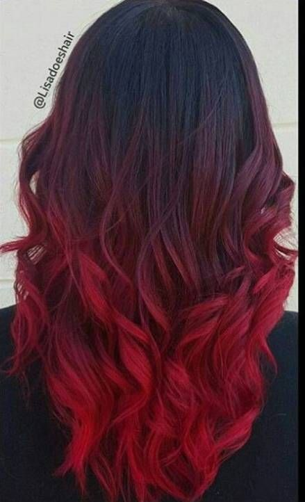 63 Trendy Hair Color Curly Red Highlights Black Red Hair Hair Styles Cool Hair Color