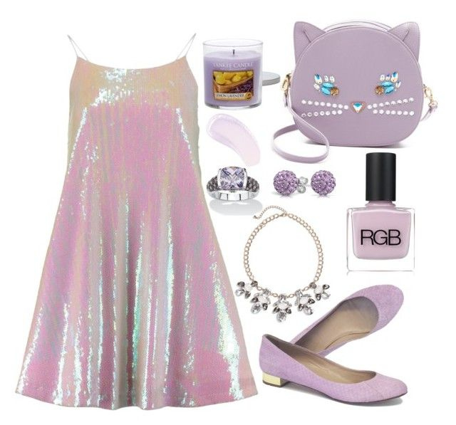 """""""Lavender love"""" by bluebunny255 ❤ liked on Polyvore featuring Patricia Chang, J.Crew, BP., RGB Cosmetics, Palm Beach Jewelry, Yankee Candle, Bling Jewelry and Burberry"""