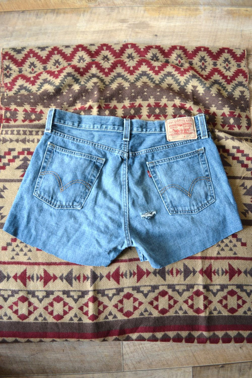 Vintage Levi's Cut Off High Waisted Denim Shorts (14.67 GBP) by MODERNOUTLAW