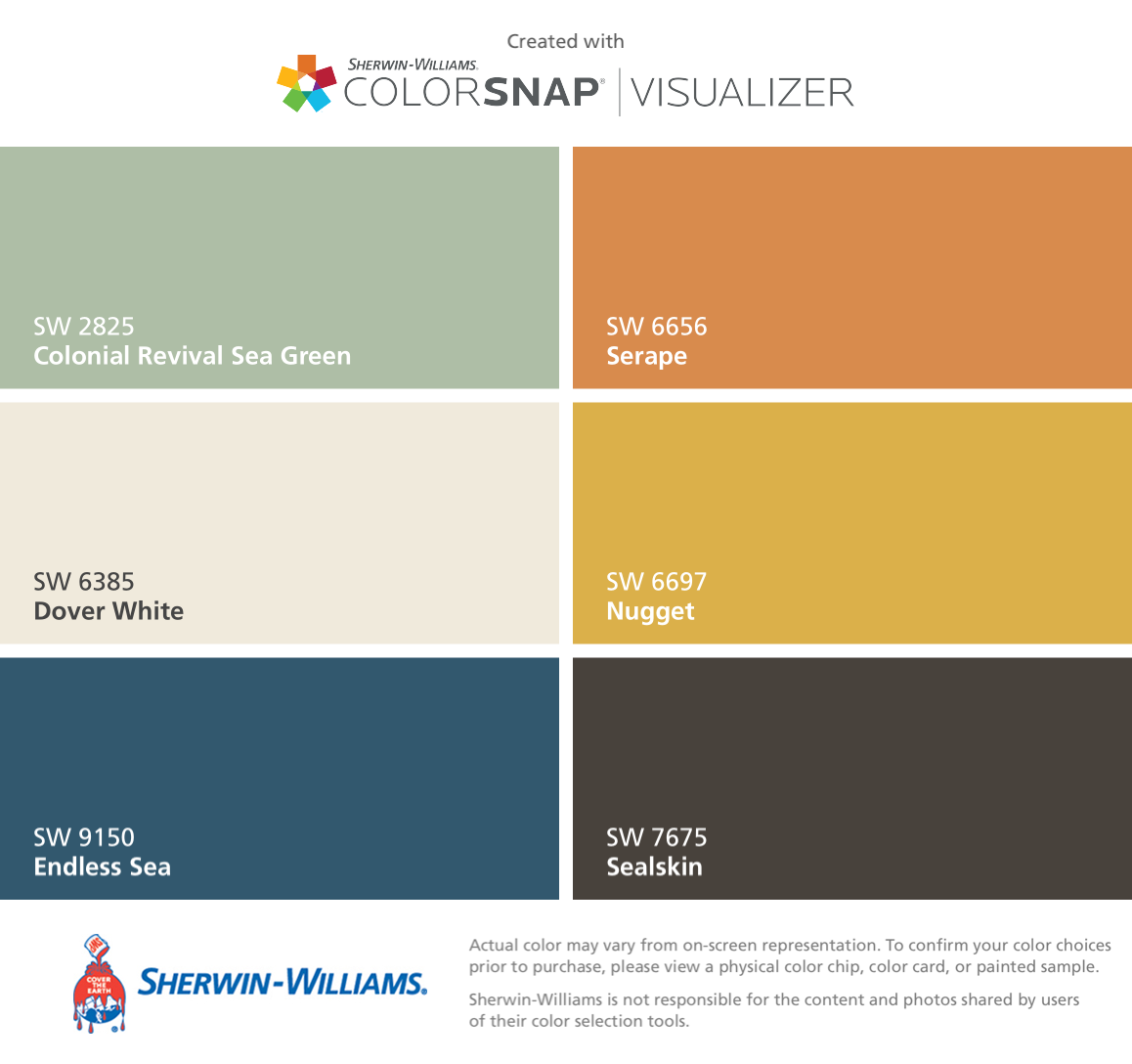 I found these colors with colorsnap visualizer for iphone by sherwin williams colonial revival - Exterior paint in bathroom set ...