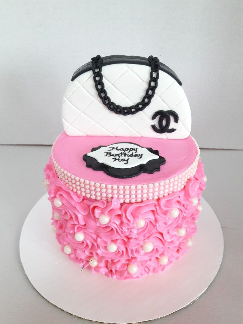 Chanel Purse Birthday Cake Birthday Cakes Pinterest Birthday