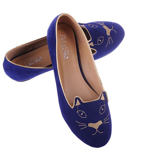 Womens Ladies Cat Face Soft Suede Slip on Ballerina Pumps Loafer Flat Shoes | eBay