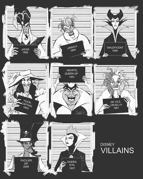 Disney Villians, I need a poster of this!!