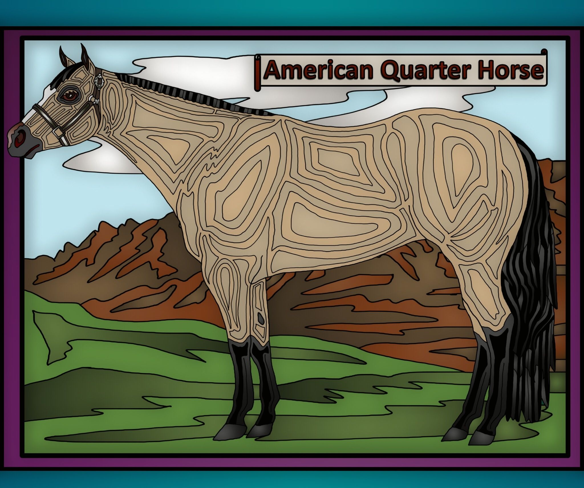 Pin By Shawna Bloom On Horse Coloring Pages Horse Color Books Horse Coloring Pages Horse Coloring American Quarter Horse