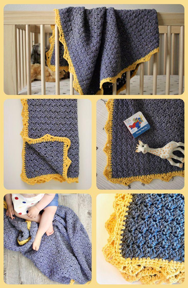 Royal Baby Blanket Crochet Pattern By Little Monkeys Design Baby Blanket Crochet Pattern Easy Crochet Baby Crochet Baby Patterns