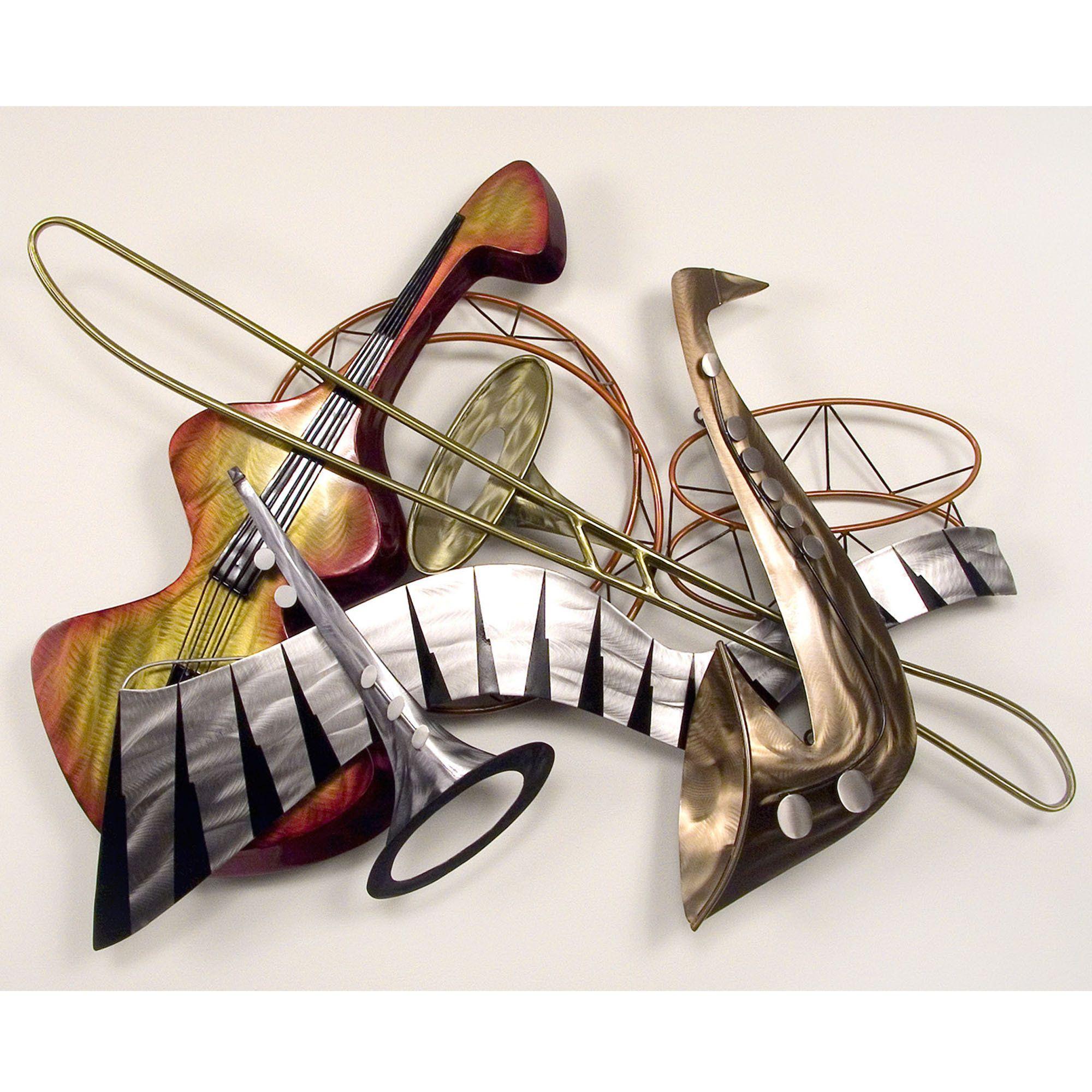 Cool Jazz Steel Wall Sculpture Musical Wall Art Cool Jazz Jazz Instruments