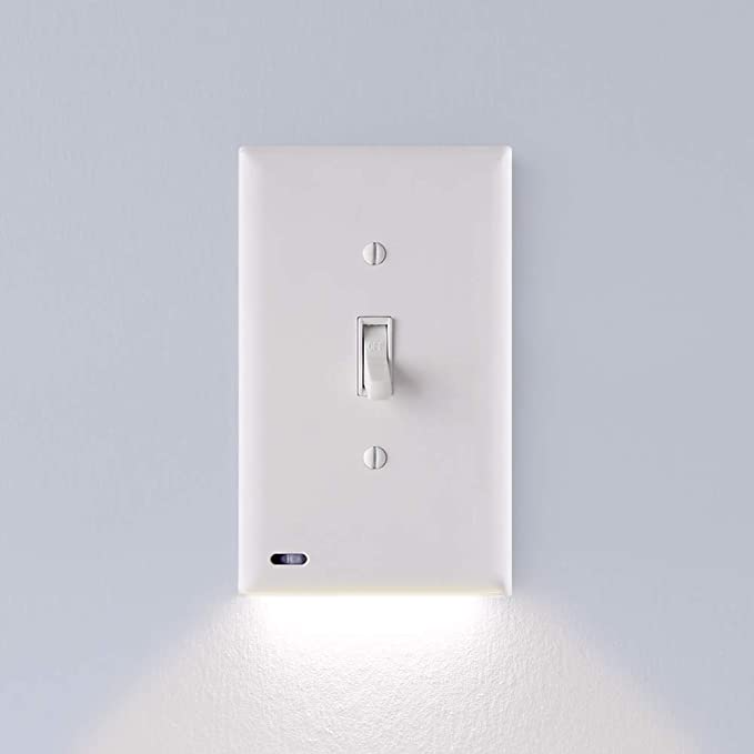 3 Pack Snappower Switchlight Led Night Light For Light Switches Light Switch Wall Plate With Built In Plates On Wall Wall Switch Plates Led Night Light