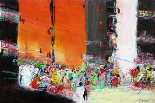 """Philippin, Inge, """"Downtown 2"""" (3) Mit einem Klick auf """"Als Kunstkarte versenden"""" versenden Sie kostenlos dieses Werk Ihren Freunden und Bekannten."""