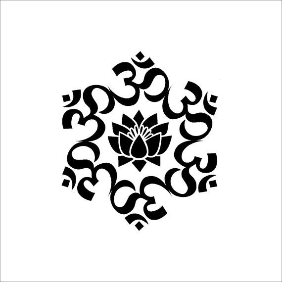 The universal om symbol buddha sacred indian lotus flower nelumbo the universal om symbol buddha sacred indian lotus flower nelumbo nucifera vinyl wall decal buddhism divine mightylinksfo