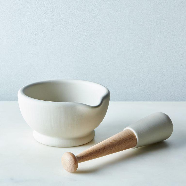 Vitrified Porcelain Mortar & Pestle
