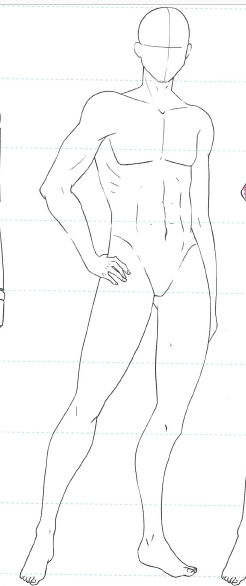 Male Body Template