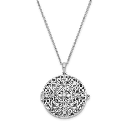 chain not included White Gold Plated Rhodium Plated 925 Sterling Silver Pave Crown Pendant