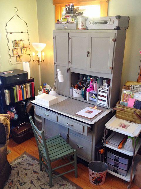 Hoosier Cabinet Creative Studio In A Corner Hoosier Cabinet