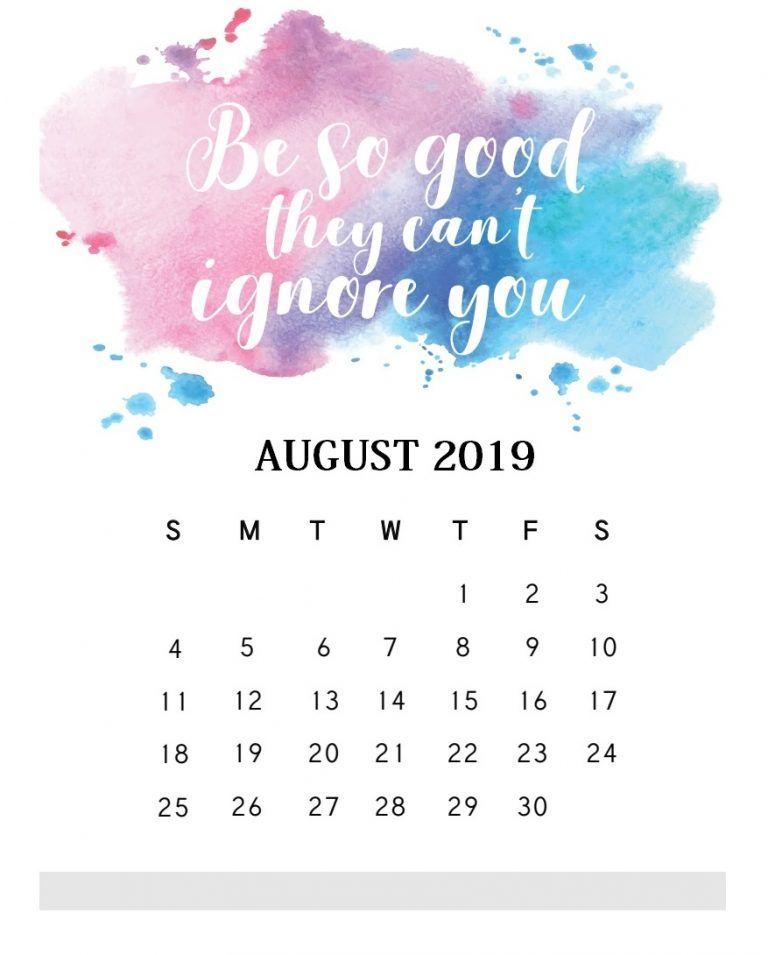 Inspirational August 2019 Quotes Calendar Motivasi Fotografi