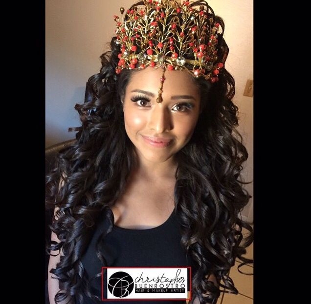 Quinceanera Hairstyles On The Side : Hairstyle tutorial: braided half up with loose waves quinceanera