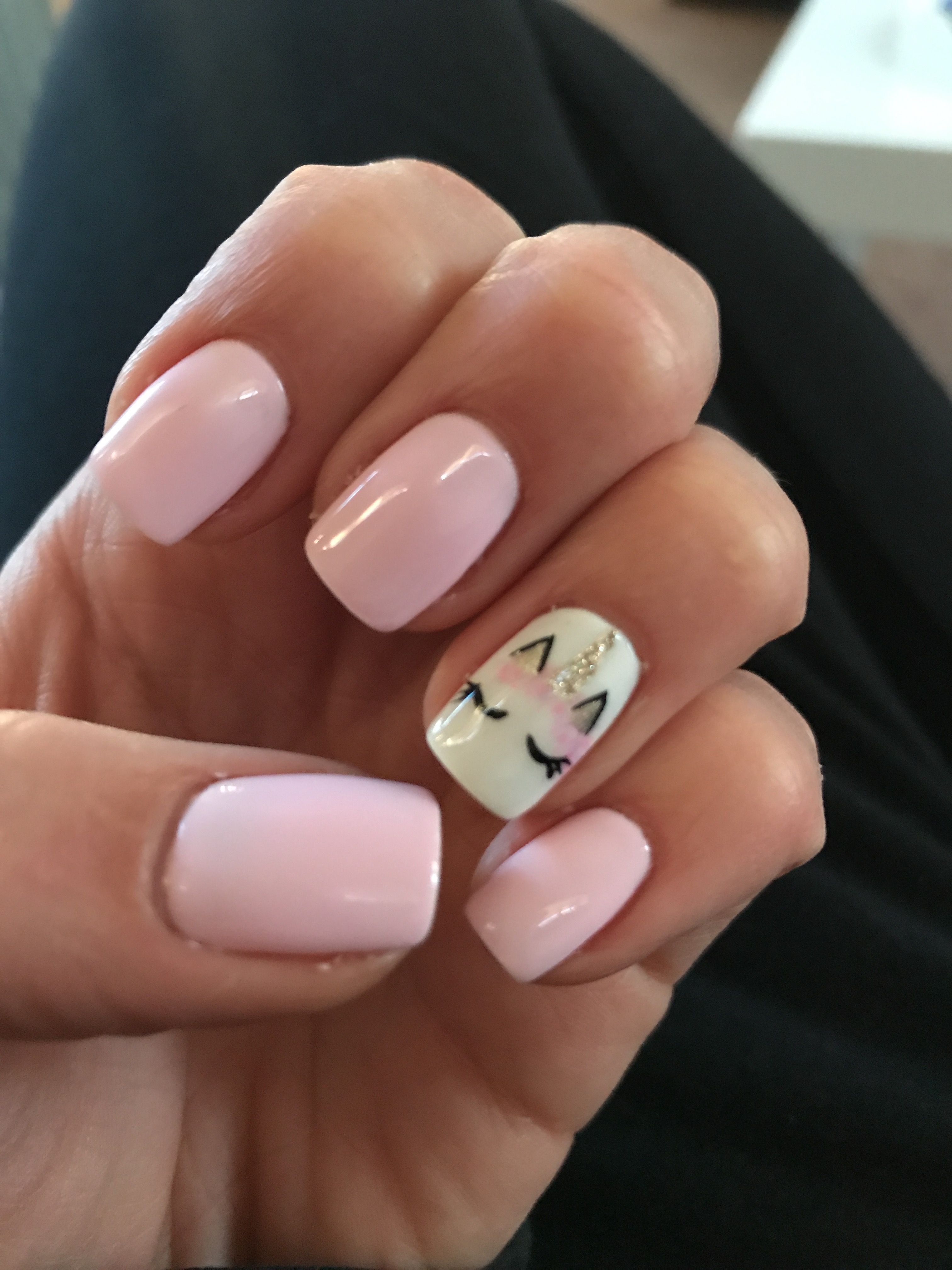 Uñas Semipermanentes Decoradas Unicorn Nails Nails Uñas Kawaii Uñas Y Uñas Rosas