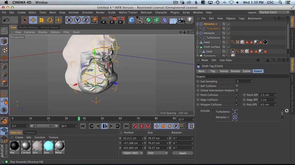 #AskGSG 13: Make A Mesh Peel Away Using Cloth Dynamics on Vimeo