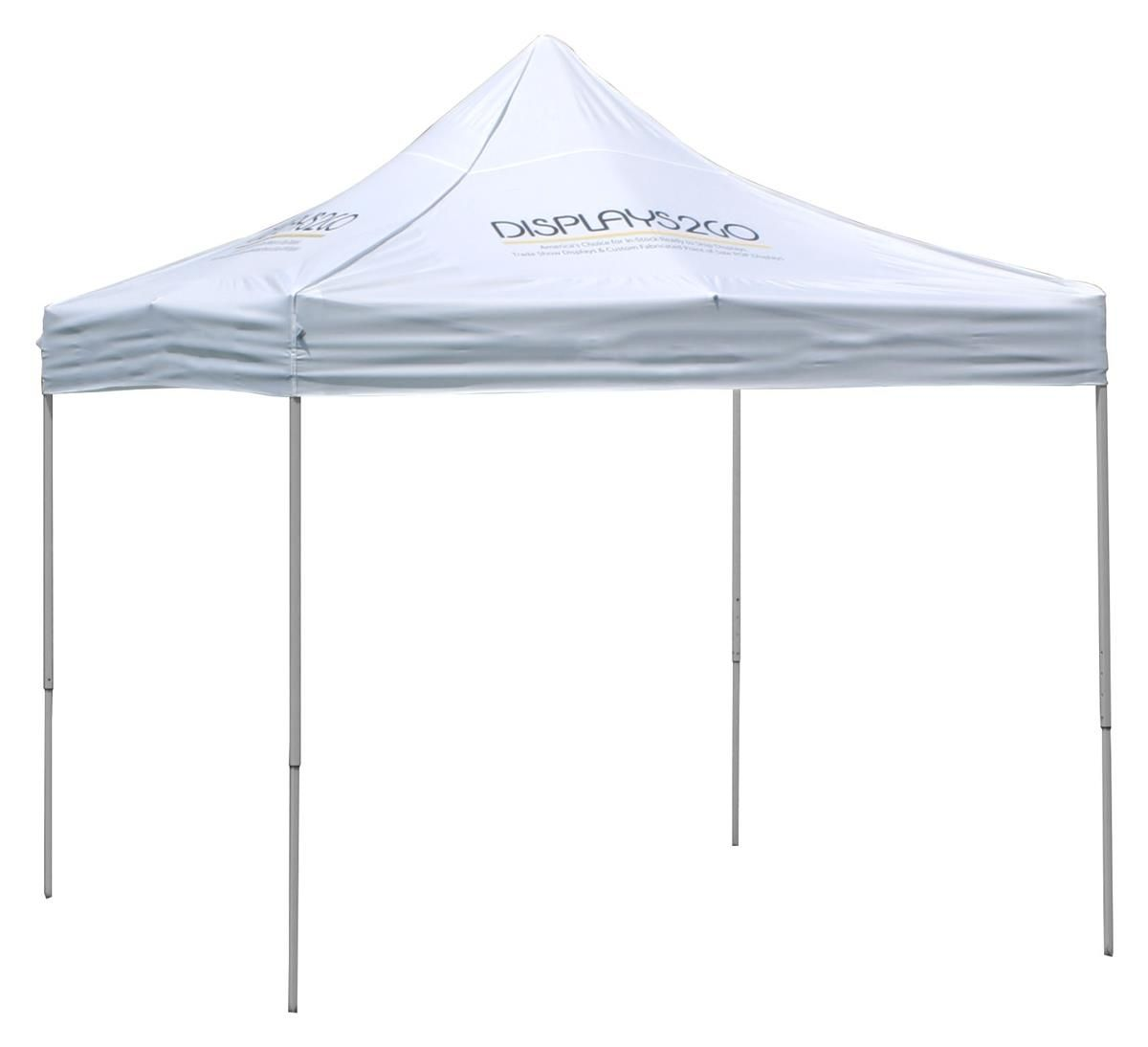 10 X 10 Outdoor Canopy Tent With 4 Custom Imprints Pop Up Square White Canopy Tent Outdoor Canopy Tent Canopy Outdoor