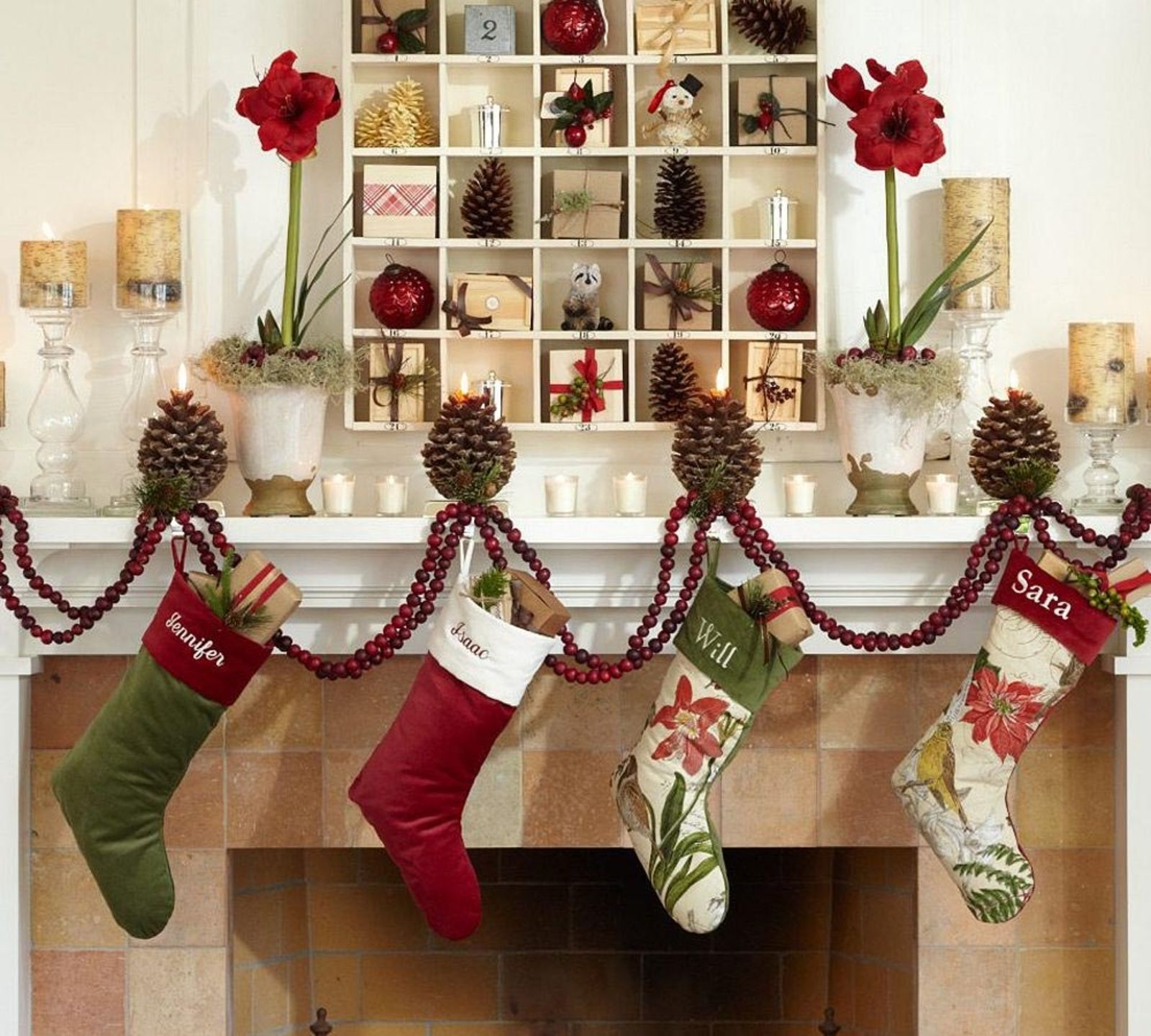 50 Christmas Mantle Decoration Ideas Pottery Barn