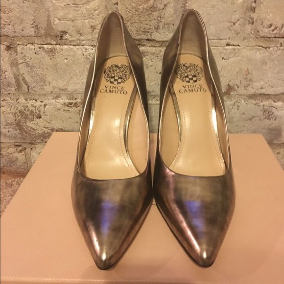 """Vince Camuto Pumps Brand New metallic """"with a hint of brown""""Vince Camuto Pumps . Never worn Size 10. Perfect fit/ true to size!! Shoes Heels"""