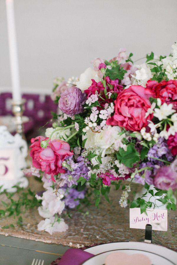 Hot pink and purple centerpiece white flower centerpieces berry colored and white flower centerpiece mightylinksfo