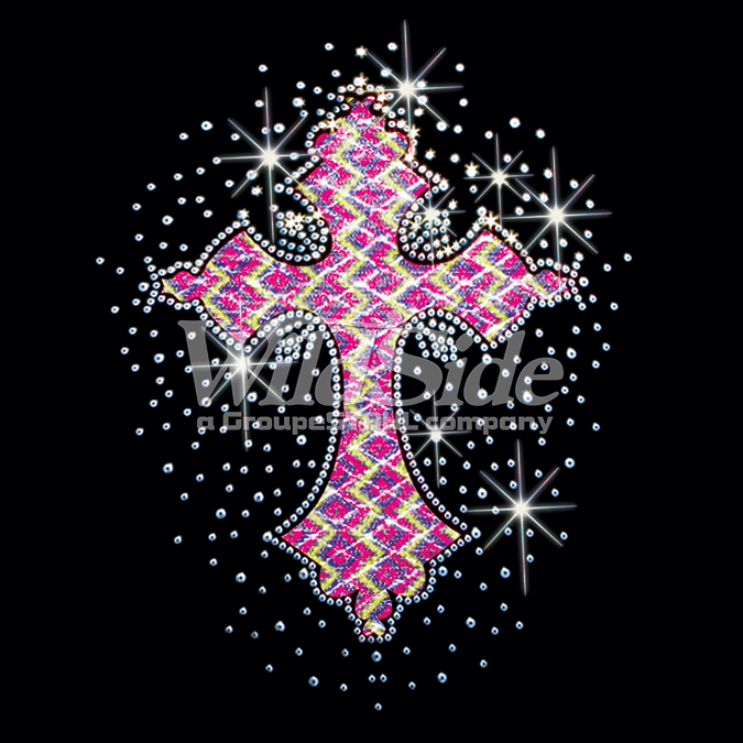 PASTEL FABRIC CROSS WITH SEQUINS - 17100 - The WildSide