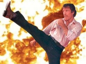 Chuck Norris just turned 75. Celebrate by watching him kick everything. Seriously. Everything.