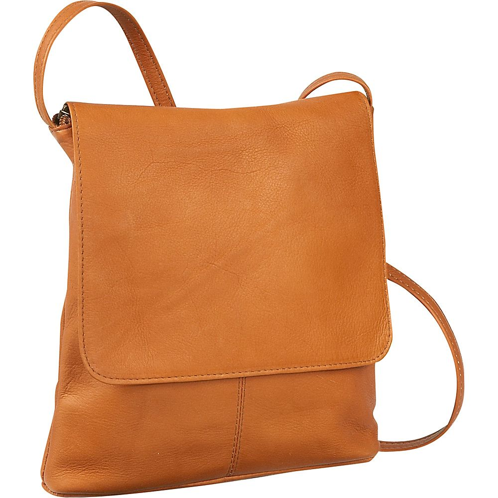Le Donne Vertical Flap Over Shoulder Bag Leather Handbag