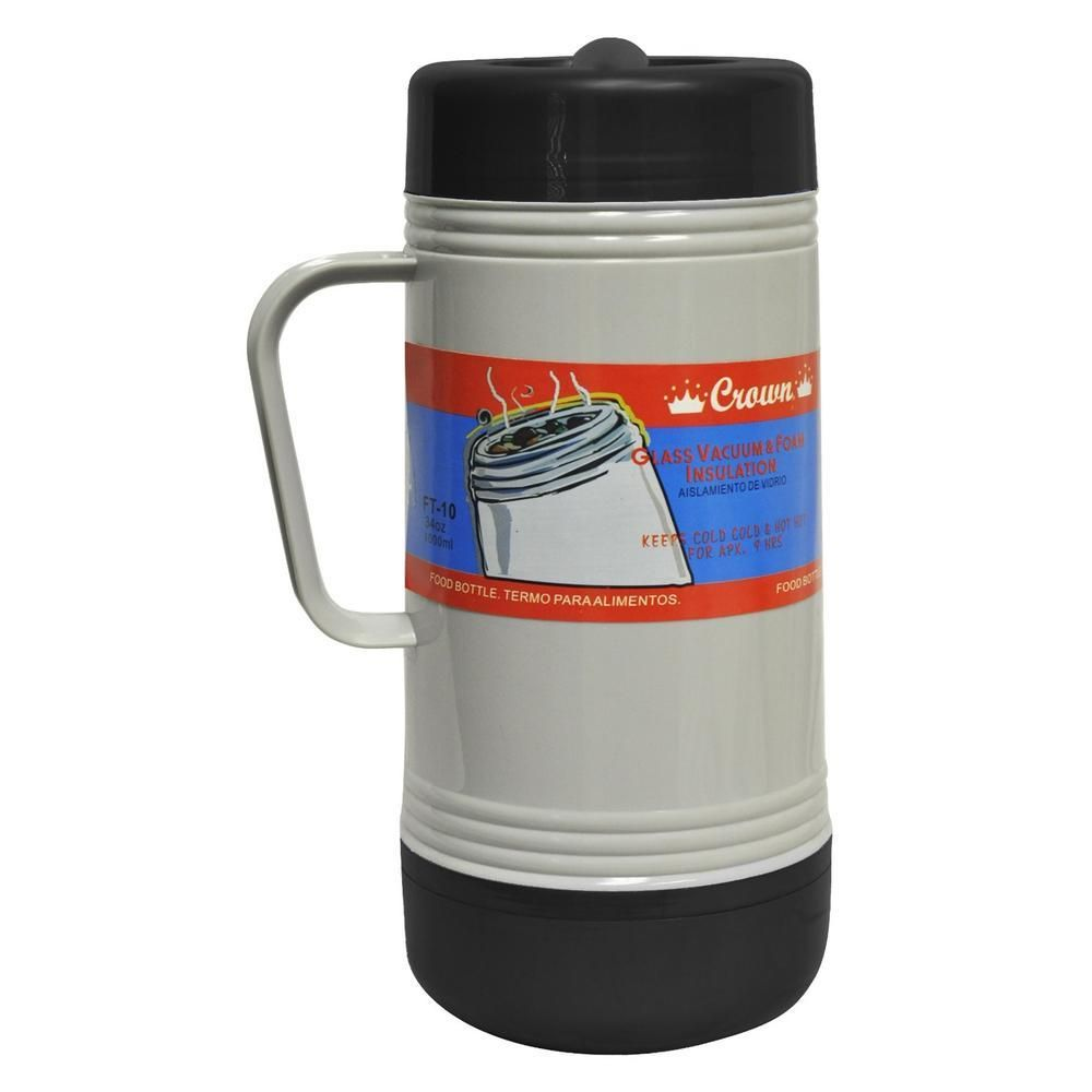 Brentwood 1 0L Glass Vacuum-Foam Insulated Food Thermos