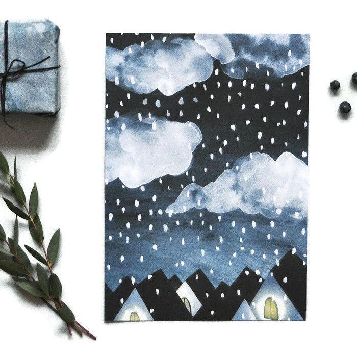 Winter Night Mini Print