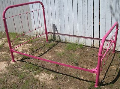 antique iron bed from eBay