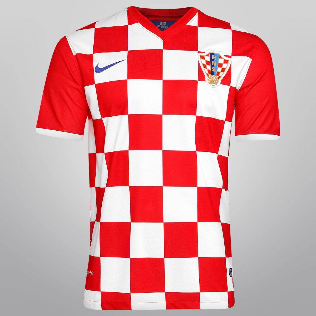 Netshoes - Camisa Nike Seleção Croácia Home 2014 s nº - Torcedor ... 1b47c799d48a9