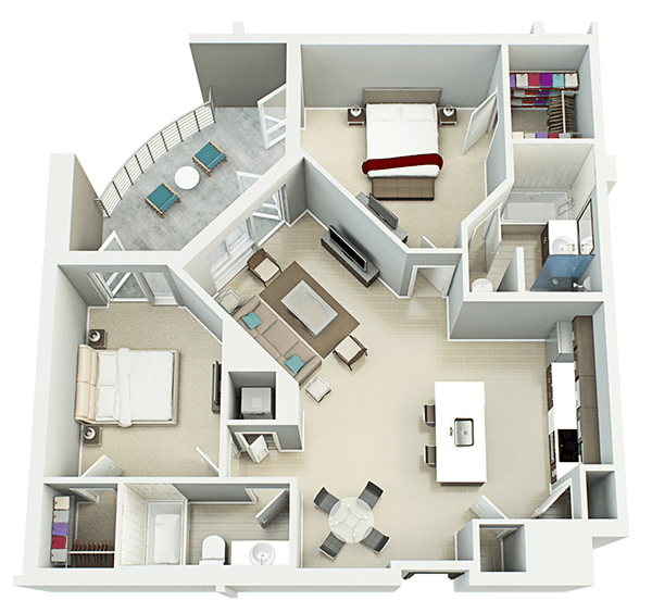 Live Nora 1 2 Bedroom Downtown Orlando Apartment Floor Plans Live Nora Orlando Florida Apartment Floor Plans Sims House Plans House Plans