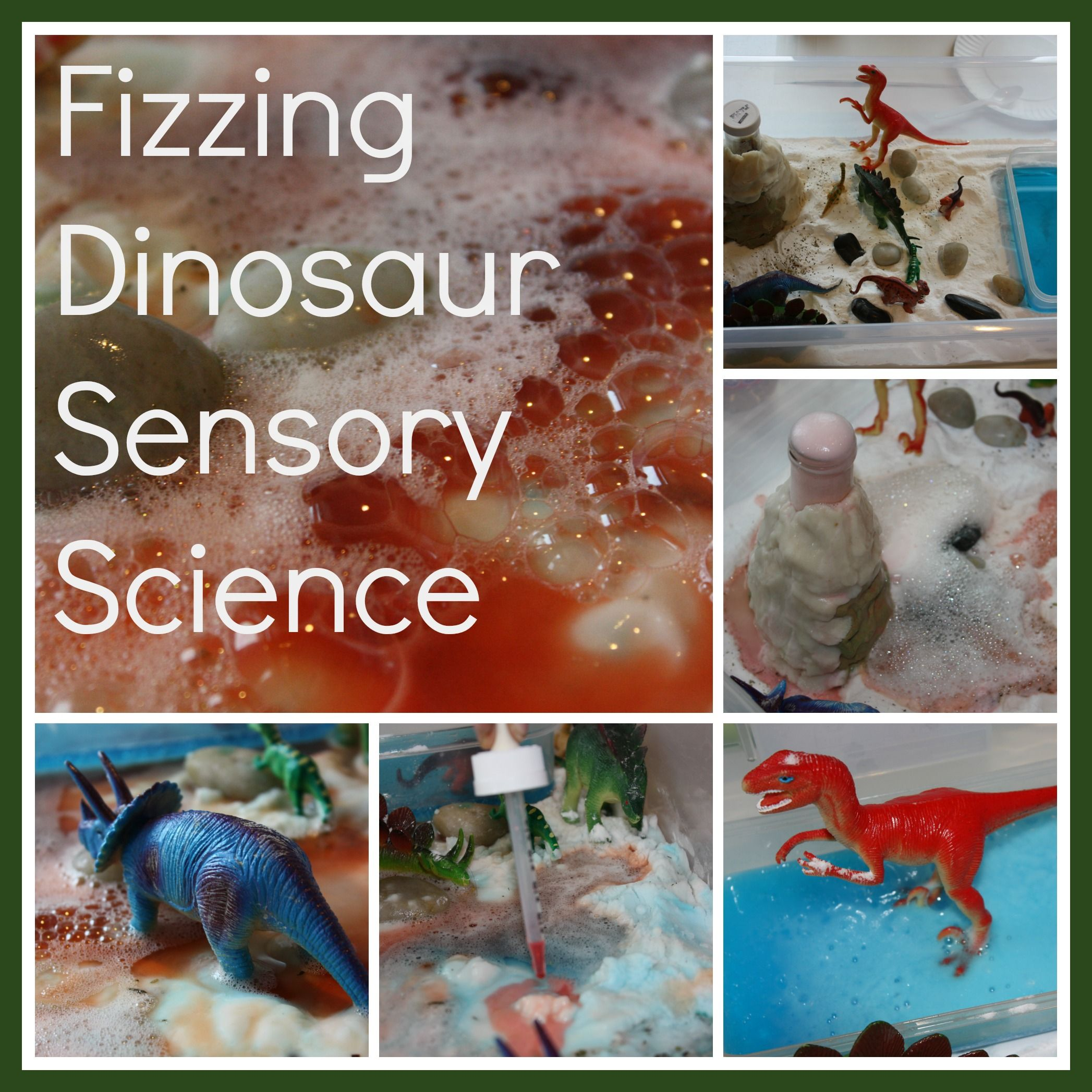 Dinosaur Volcano Science Sensory Small World Play